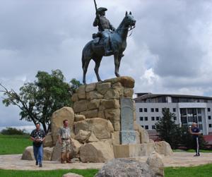 Hunting Namibia - Windhoek German Horseman Statue
